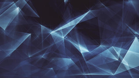 Abstract Dark Blue Glowing Edges FHD Image