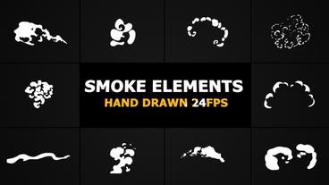 Cartoon Smoke Elements Premiere Pro Template