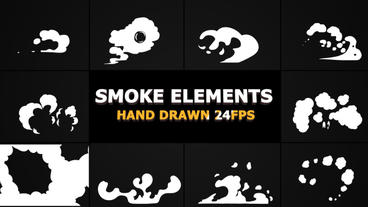 Hand Drawn SMOKE Elements 24 fps Premiere Pro Template