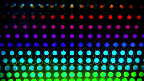 Colorful Glowing Neon Circles Abstract Motion Background VJ Loop Animation
