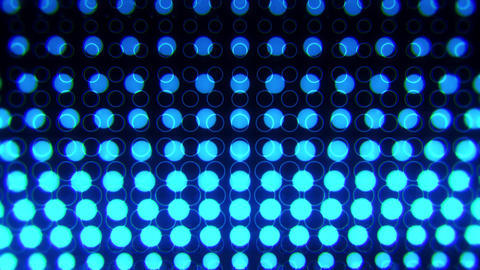 Blue Glowing Neon Circles Abstract Motion Background VJ Loop Animation