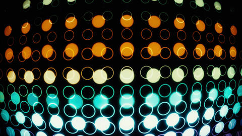 Colorful Glowing Neon Circles with Lens Distortion Background VJ Loop V2 Animation