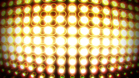 Gold Glowing Neon Circles with Lens Distortion Background VJ Loop Animation