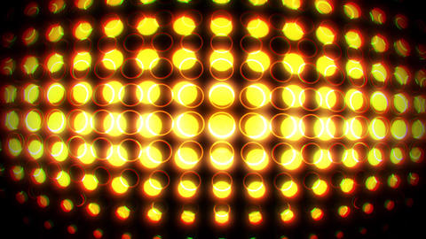 Gold Glowing Neon Circles with Lens Distortion Background VJ Loop V2 Animation