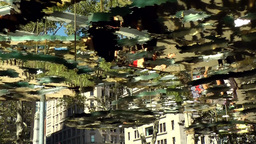 New York City 524 canopy with a gleaming surface in Madison Square Park Footage