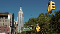 New York City 532 Empire State Building seen from 23rd street & Broadway Footage