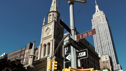 New York City 534 East 29 st Ave Marble Collegiate Church Empire State Building Footage