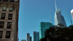 New York City 538 Bank of America and MetLife seen from fifth avenue Footage