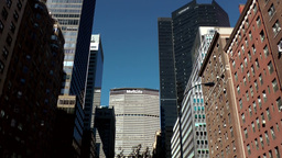 New York City 550 MetLife Building from Park Avenue crossing east 38th street Footage