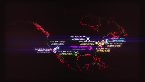 4K Map of Major Terrorist Attacks in the USA between 2000-2016 3 Image