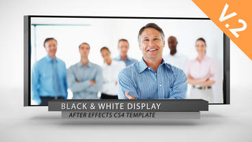 Black and White Display (V.2) - After Effects Template After Effects Template