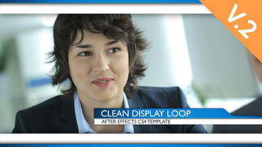 Clean Display Loop (V.2) - After Effects Template stock footage