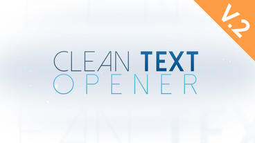 Clean Texts Opener (V.2) - After Effects Template After Effects Template