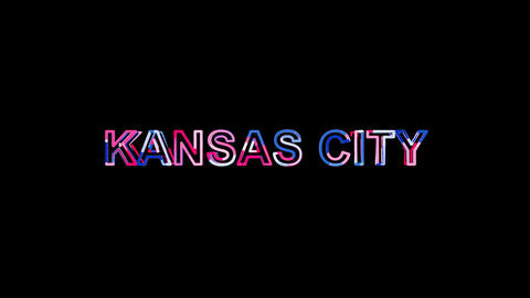 Letters are collected in city KANSAS CITY, then scattered into strips. Bright Animation