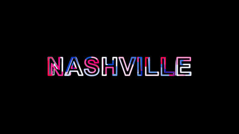 Letters are collected in city NASHVILLE, then scattered into strips. Bright Animation