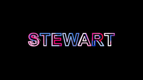 Letters are collected in International Airport STEWART,…, Stock Animation