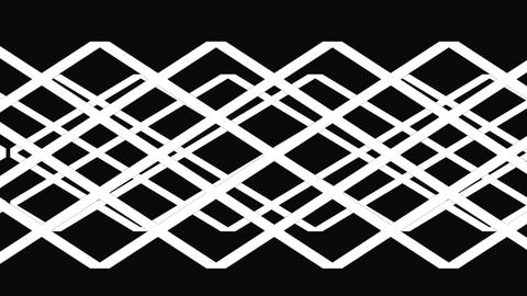A motion graphic of Interlacing Weave or Lattice pattern Footage