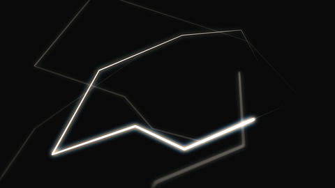 A motion graphic of several glowing lines that follow a continuous path Live Action
