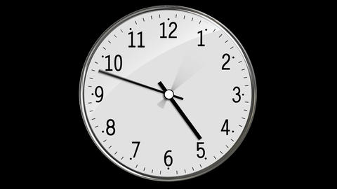 Classic Clock Passing 12 Hours Animation