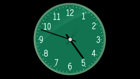 Classic Clock With Digital Screen Passing 12 Hours Animation