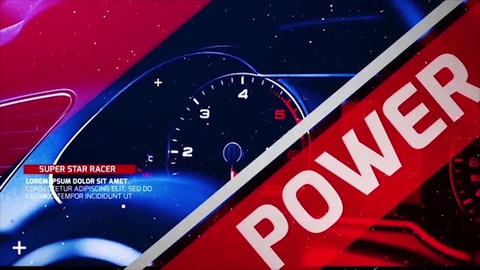 Sport Race Opener After Effects Template
