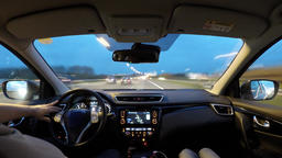Driving time lapse from Amsterdam to Germany seen from inside the car - with Footage