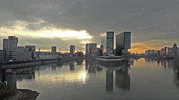 Skyline city of Duesseldorf, Germany Footage