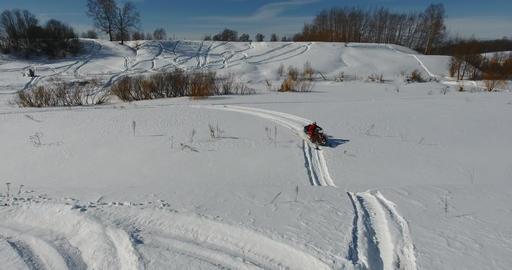 Entertainment on snowmobiles 3 Footage