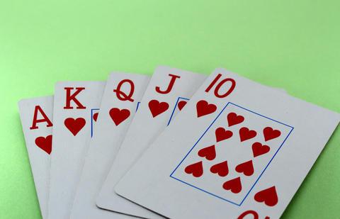Win in poker! フォト
