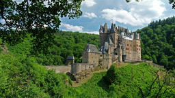 Castle Eltz - one of the most famous and beautiful castles in Germany Footage