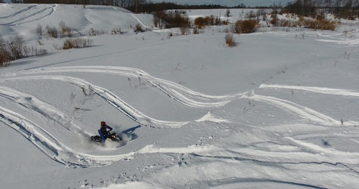 Entertainment on snowmobiles 4 Footage