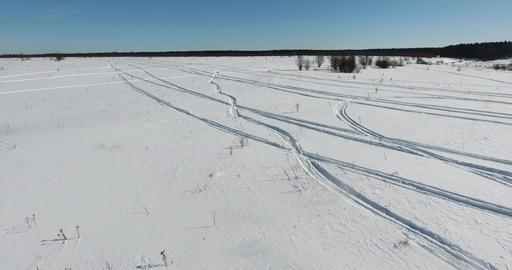 Winter field on a clear day ビデオ