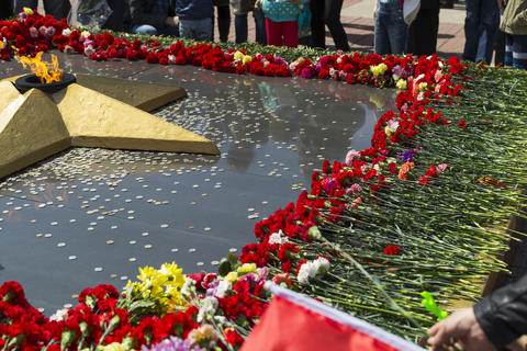 RUSSIA - MAY 9: Victory Day. Eternal Flame Photo