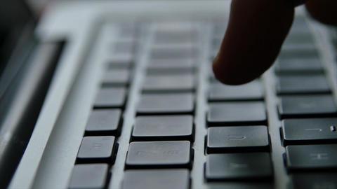 Laptop keyboard finger hand Image