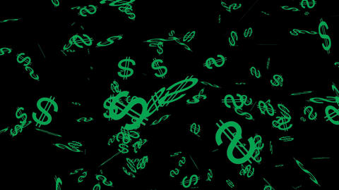 Falling Dollar Signs Background 02 Animation