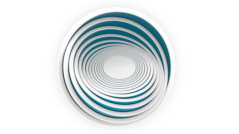 Blue hemispheres or bowls fit each other. 3D design, various size or plastics Footage