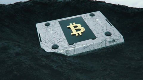 Uncovering a chest of bitcoins Footage