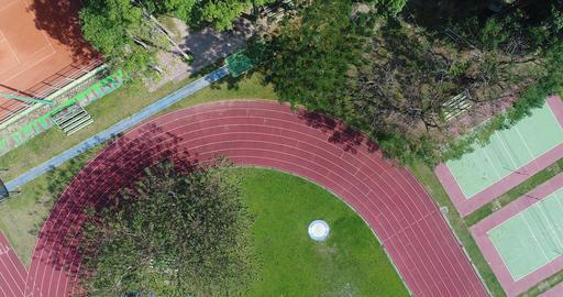 aerial shot track scene Footage