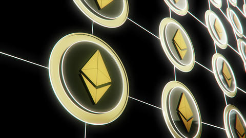 Ethereum the Virtual Crypto Currency Footage