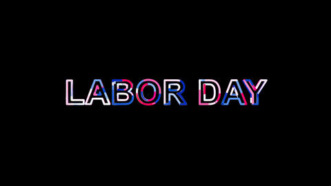 Letters are collected in celebration LABOR DAY, then scattered into strips Animation