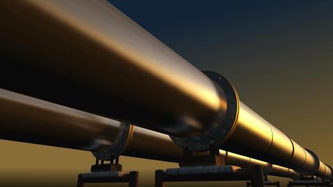 Pipelines loop perspective tracking, dark sky Animation