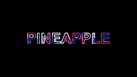 Letters are collected in fruit PINEAPPLE, then scattered into strips. Alpha Animation