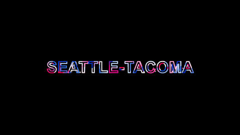 Letters are collected in International Airport SEATTLE-TACOMA, then scattered Animation