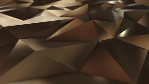 Gold abstract low poly triangle field Animation