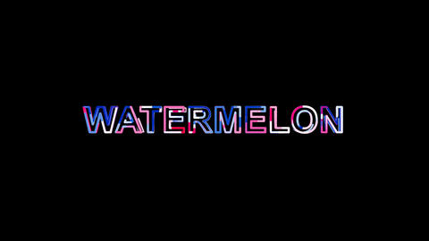 Letters are collected in fruit WATERMELON, then scattered into strips. Alpha Animation
