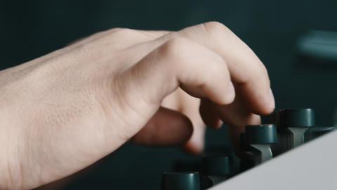 Writer typing with retro writing machine Footage