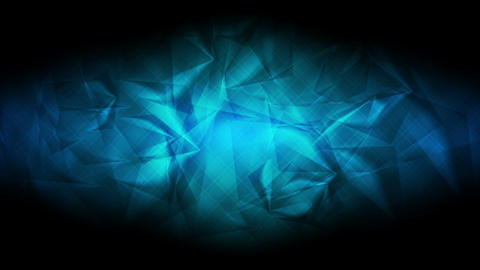 Dark blue glossy polygonal video animation Animation