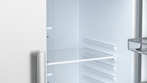 Empty side by side fridge Image
