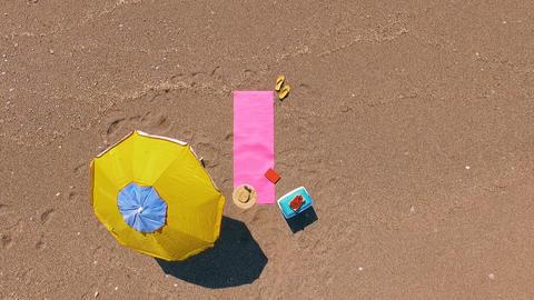 Aerial View Mediterranean Beach Footage