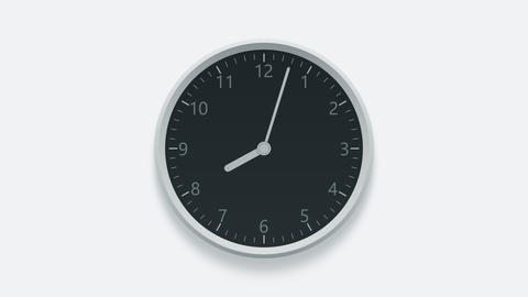 Office wall clock measuring off working hours from 8 a.m. to 6 p.m. Time lapse Image